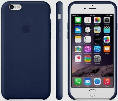 the latest 3dc30 63c77 NEW APPLE LEATHER Case iPhone 6 Plus 6s Plus MKXD2ZM/A - MIDNIGHT BLUE -  Sealed