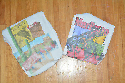 Marlboro Country Vintage T-Shirts 90s 1990s Rodeo XL (Lot of 2)