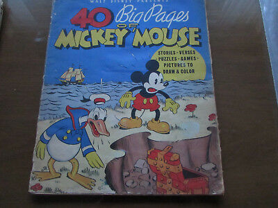 40 Big Pages of Mickey Mouse (1936) #945 FAIR/GOOD