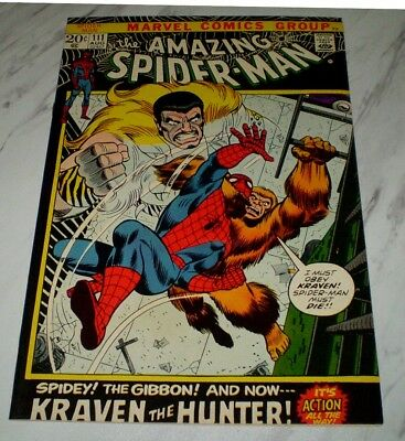 Amazing Spider-man #111 NM/MT 9.8 OW/W pages 1972 Marvel Kraven black cover