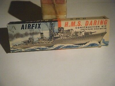 CLASSIC 1959 AIRFIX 1/600 Scale 1950's Royal Navy HMS DARING Destroyer Kit
