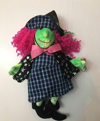 """Ty Witch Beanie Baby """"scary"""" Halloween New With Tags 2000 (H4)"""