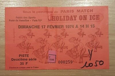 Ancien Ticket Contremarque Palais Des Sports Holiday On Ice 1974 17/02/1974
