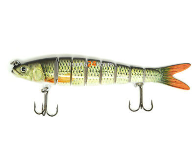 "5.5"" Multi Jointed Fishing Lure Bait Swimbait Life-like Herring Bass Pike Muskie"