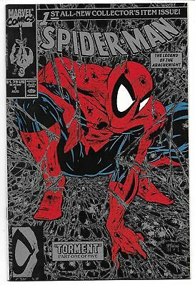 Spider-Man #1 Black & Silver Variant Nm+ 1990 Todd Mcfarlane Marvel Comics