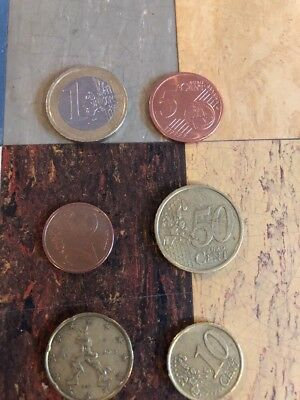 Lot Of 5 Euro Coins Assorted Foriegn Currency Coin
