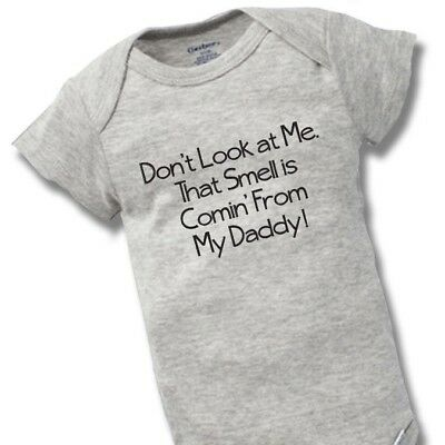 Smell Is Coming Daddy Onesies Baby Gift Funny Cute Dad Father Boy Girl Clothes