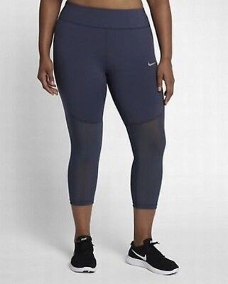 83d094a139ed6 Women's Plus Size Nike Epic Lux Running Tights Crops 883742 471 Thunder  Blue 3x