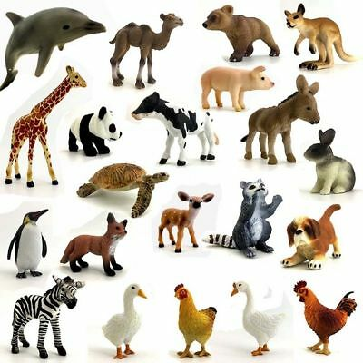 4D Realistic Wild Animal/Farm Animal/Marine Animal Baby Model Educational Toys