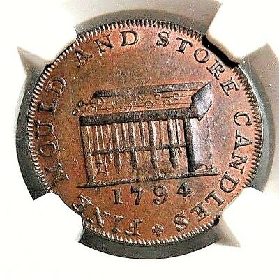 High Grade - Middlesex - Shackelton's - Conder Token - Dh - 477 Ngc Ms - 65 - Nr