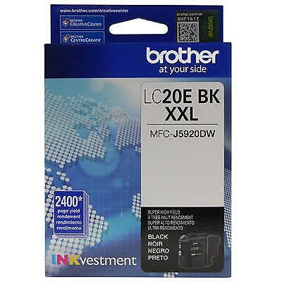 Brother LC20EBK INKvestment 2400 Page Super High Yield Black Ink Cartridge