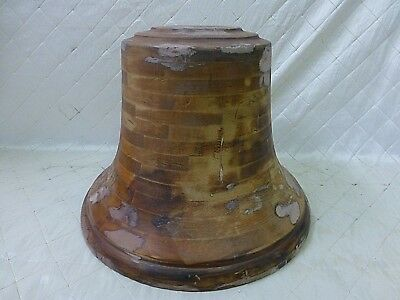 Wood Foundry Mold Church School Farm Bell Vintage LARGE Rare Vintage
