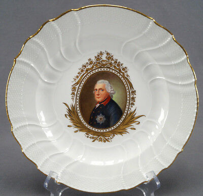 Late 19th Century KPM Berlin Hand Painted Frederick The Great Portrait Plate