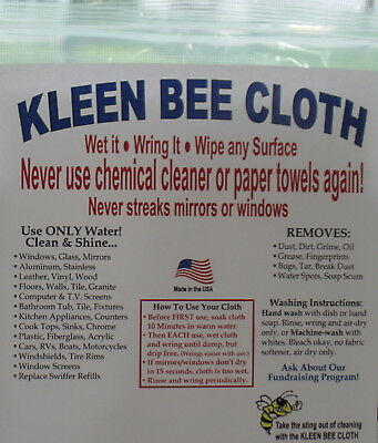 KLEEN BEE CLOTH - Miracle cloth - Water only - No chemicals - Eco Friendly