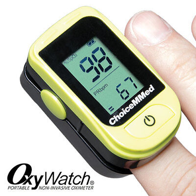 ChoiceMMed OxyWatch Portable Digital Finger Oximeter with Pulse Bar Reading