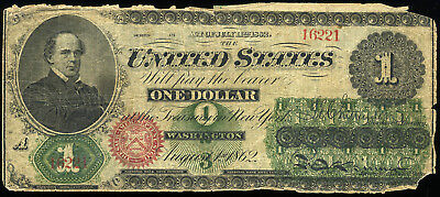 $1.00 1862 United States Note  FR 16  ***LOOK*** NO RESERVE !!!