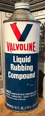 Vintage Valvoline Liquid Rubbing Compound Can - Ashland, Kentucky - Metal