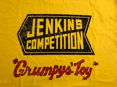 "Bill""grumpy""jenkins Competition New Old School Yellow  2Xlarge Tee Shirt"