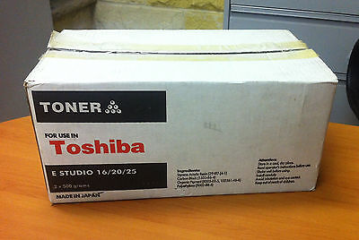 """new"" 2 X 500 Grams Replacement Toner Toshiba Estudio 16,e-Studio 20,e-Studio 25"