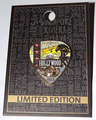 HRC Hard Rock Cafe Hollywood CA Guitar Pick 2017 Limited Edition Pin
