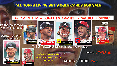 2018 Topps Living Set Cards 1 To 117 Week Number 39 - Severino - Jorge - Mancini