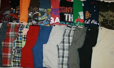 Boys Size 10 Shorts & Shirts Summer Clothing Lot Of 20 Pieces (Name Brands)