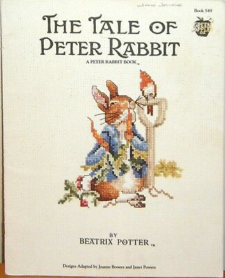 The Tale of Peter Rabbit cross stitch pattern leaflet - used