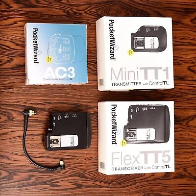 Pocketwizard 2x Flex TT5, Mini TT1, AC3 for Nikon