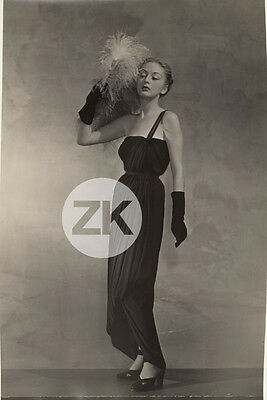 JEANNE LANVIN Mannequin Mode Fashion Robe Georges SAAD Photo 1946