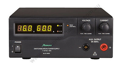 Manson HCS-3600-USB Desktop Power Supply 1-16VDC 0-60A, upgrade for SPS-9600
