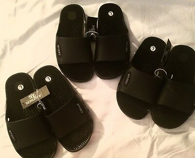 New Sz1/2 Boys Comfy Blk Sandals, Great For Playing In The Summer!no Blisters