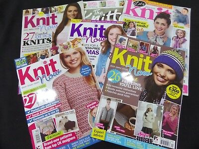 Knit Now Knitting Magazines x 4, Let,s Knit & The Knitter Magazine.
