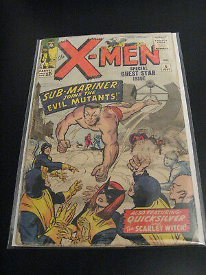 Lookee! ---> X-MEN #6 1964 (G+) or (G/VG) Subby! *Uber-Cool Uber-Early Issue!*