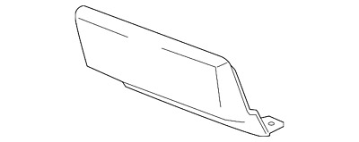 GMC GM OEM 15-16 Yukon Rear Bumper-Access or Tow Hitch Cover Panel 23142974