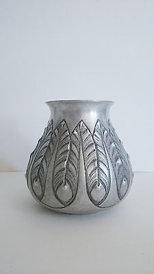 Vase art deco art nouveau signe barte french jugendstil handworked metal