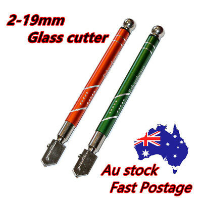 1PC 2PC Glass Cutter 2-19mm Cutting Thickness Oil Feed Glazing Quality TS3