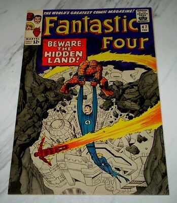 Fantastic Four #47 NM+ 9.6 White pages Unrestored 1965 Marvel Silver age