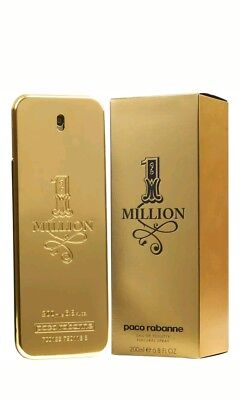 ONE MILLION 200ml EDT SPRAY FOR MEN BY PACO RABANNE ---------------- NEW PERFUME