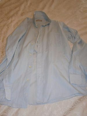 Vintage Mens Target Brand Size 38 Pale Blue Business Shirt Button Down Collar