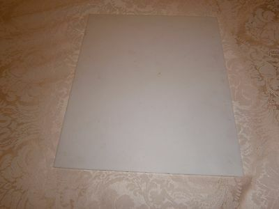 Vintage Photographic White Glass For Negative - 25 X 30 Cms