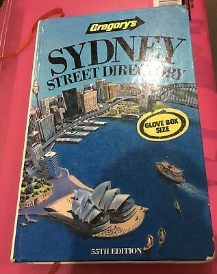 gregorys SYDNEY STREEY DIRECTORY 55th edition  1990 (hardcover) used