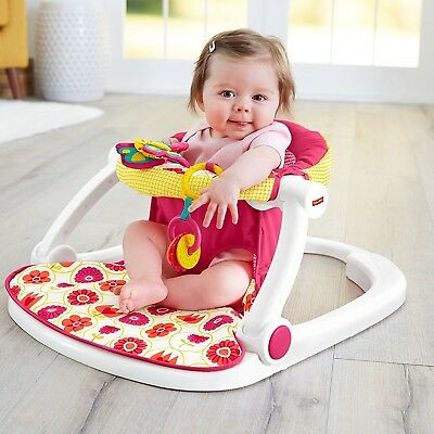 Fisher Price Sit Me Up Daisy Portable Floor Seat Baby Girl