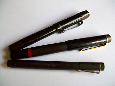 3 Vintage Drafting Fountain Pens: Pelikan Graphos, Rotring, Imperial 1945