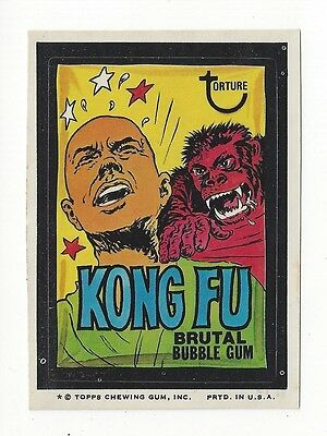 1974 Topps Wacky Packages 8th Series 8 KONG FU nm-