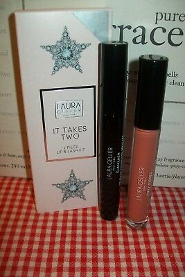 laura geller It Takes Two duo with glamlash mascara & Fifty kisses beige bite