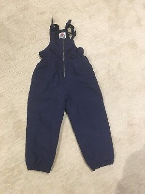 Kids Navy Snow Overalls Size 5/6