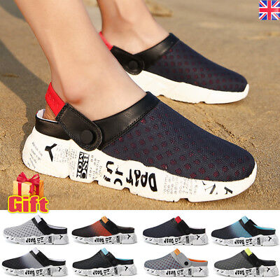 Mens Beach Sandals Slippers Clogs Mules Sports Summer Shoes Flip Flop Sliders UK