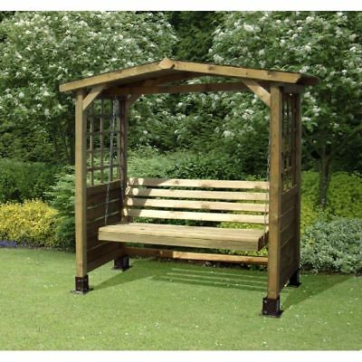 2 Seater Wooden Swing Seat With Trellis Garden Outdoor Patio Furniture Bench