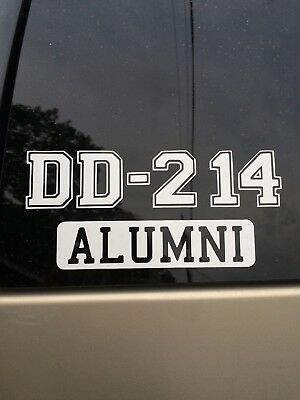 DD214 Alumni Window Sticker...Know a Vet? Give them one of these. DD-214