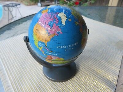 Vintage  Old Rotating Editions Atlas Small Desk Globe World Map